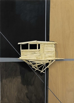 tree hut in pompidou by tadashi kawamata