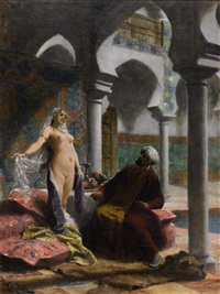 the new harem girl by françois edouard zier