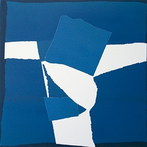 blue square collage by sandra blow