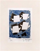 lithograph from le tir à l'arc (the archery) by georges braque