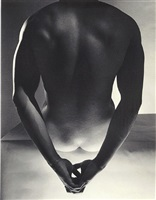 male nude (hands behind back) 1952 by horst p. horst