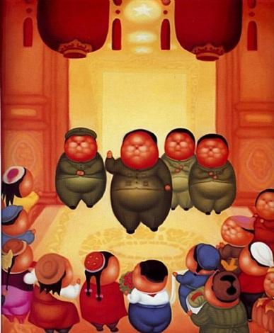 chairman mao receiving his subjects in tiananmen by pan dehai