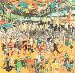 vichy- a convention of comic book characters by peter blake