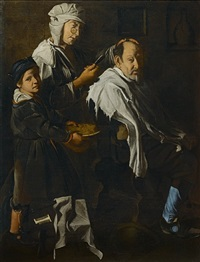 the barber's shop by the master of the blue jeans