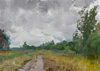 the road in spring by mikhail konov