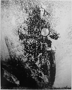 the motorcyclist by martin munkacsi
