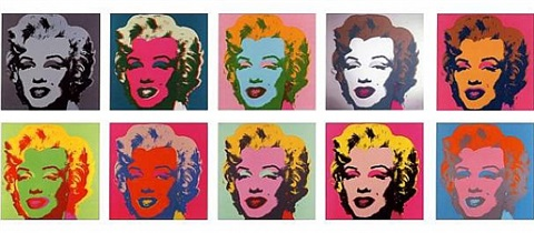 marilyn monroe (portfolio of 10, the complete set of ten screenprints in colors) by andy warhol
