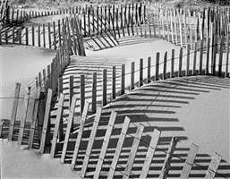 beach fence #7 by daniel jones