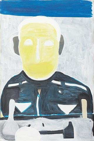porträt mit gelbem kopf by matthias zinn