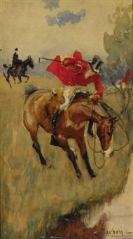 fox hunt - halt by edmund charles tarbell