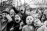 children at a puppet theatre in paris, 1963 by alfred eisenstaedt