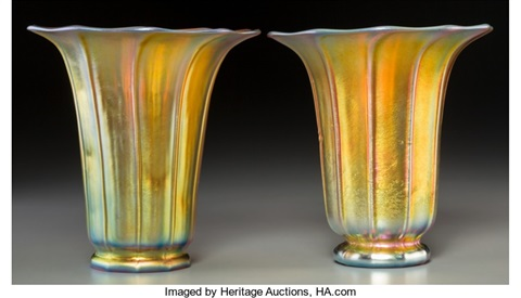 Shade Vases 2 Works By Steuben Glass On Artnet