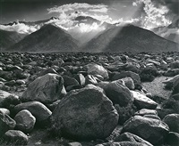 mt. williamson, sierra nevada, from manzanar by ansel adams