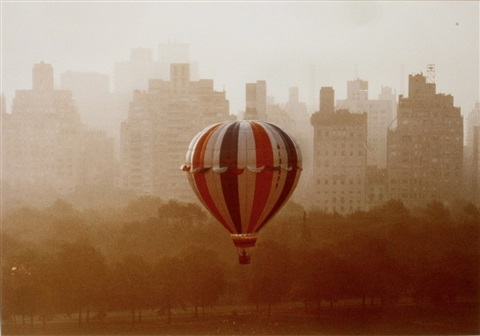 balloon over sheep meadow by ruth orkin