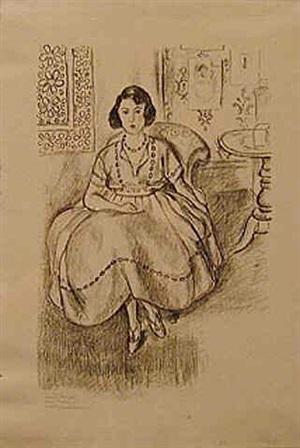 la robe d'organdie by henri matisse