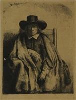 clement de jonghe, printseller by rembrandt van rijn