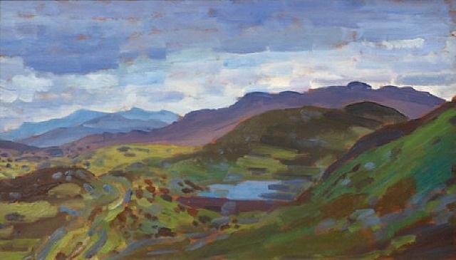 welsh mountains by augustus edwin john
