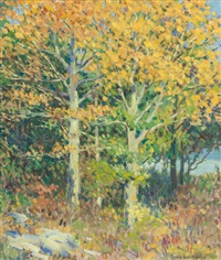 autumn landscape by frances isabel neill