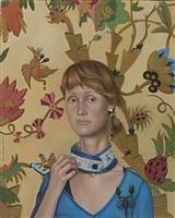 santa (bildnis freundin der malerin) by anna baklane
