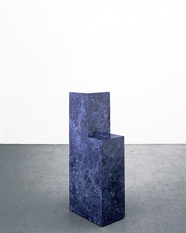 blue chair by richard artschwager