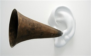 beethoven's trumpet (with ear) opus # 133 by john baldessari