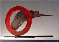 sisyphean circle xliii (bronze pointer) by john van alstine