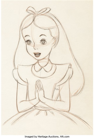 Alice In Wonderland Animation Drawing By Marc Davis Walt Disney 1951 By Walt Disney Studios On Artnet