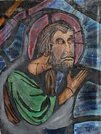 untitled (saint) by abraham rattner