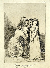que sacrificio! (what a sacrifice!) by francisco de goya