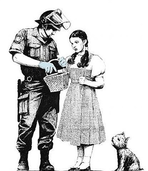 stop and search by banksy