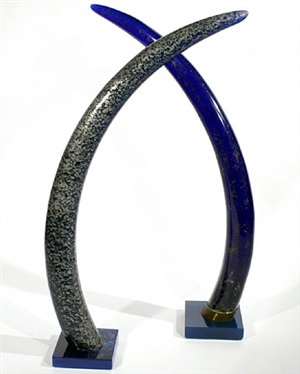 "a unique pair of over-sized ""elephant tusks"" by pierre giraudon by pierre giraudon"