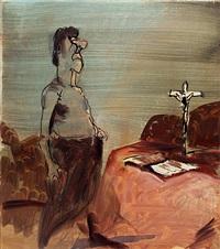 ohne titel (selbstportrait) by siegfried anzinger