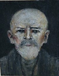 head of an old man by laurence stephen lowry