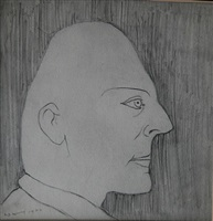 head of a man by laurence stephen lowry