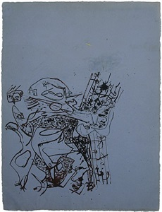 jackson pollock drawing on paper, canvas and sculpture by jackson pollock