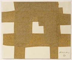 collage beige by eduardo chillida