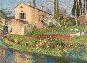 la maison de marie-louise au printemps à la bastide-du-vert by henri jean guillaume martin