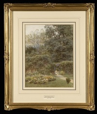 old hampstead garden by helen allingham