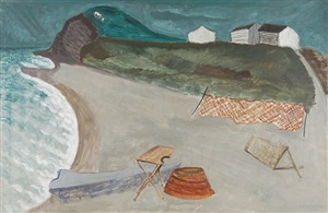 fishing village by milton avery