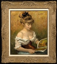 claudine with book by marcel dyf
