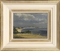 hopton on sea, looking towards great yarmouth by campbell a. mellon