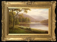 a bit of derwent water, cumberland by william mellor