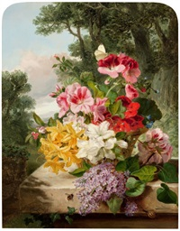 floral still life by john wainwright