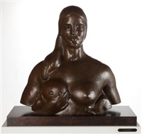 bust of woman (garden figure) (lf 175b) by gaston lachaise