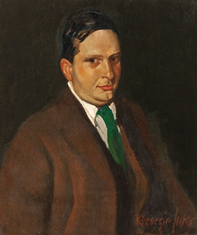 the green tie portrait of edward h smith by george benjamin luks