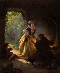 gypsy fortune teller by daniel maclise