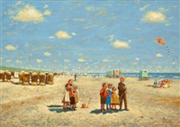 children on the beach by cornelis koppenol