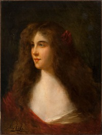 portrait of a girl by angelo asti
