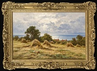 silent waters & harvest time on the south coast (pair) by henry h. parker