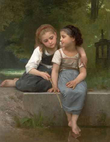 fishing for frogs by william adolphe bouguereau